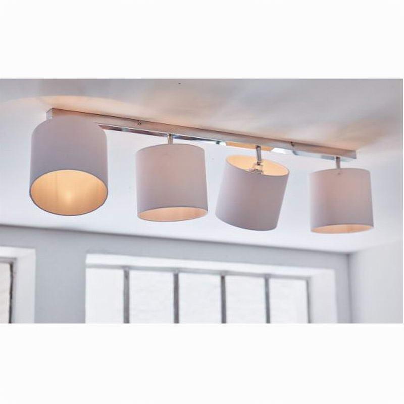 new design modern white shade lustre led ceiling lights lamp fixtures adjustable head for. Black Bedroom Furniture Sets. Home Design Ideas