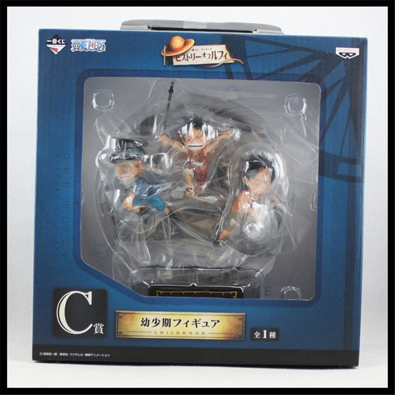 Japan One Piece New World POP Anime Figuarts Zero Luffy Ace sabot Brother Action Figure PVC Boxed Model Limited Edition 0147(China (Mainland))