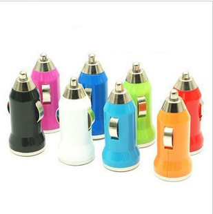 2014 limited new mixcolor mini usb car charger adapter one port for iphone4 4s 5/5s for i pad mobile phone mp3 mp4 free shipping(China (Mainland))
