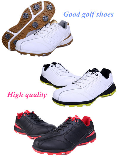 Free shipping 2015 The New Golf Shoes in Summer Leather Golf Men's Shoes White Black Color EUR 39-44(China (Mainland))
