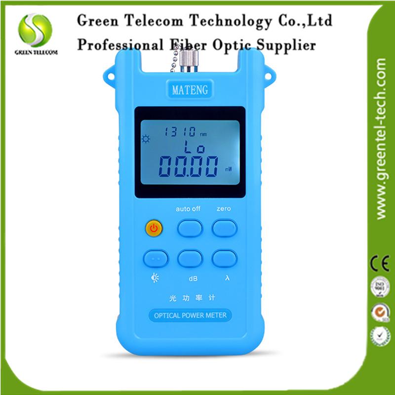 GreenTel Handheld Optical Power Meter -70~+10dBm Fiber Optic Pow Meter 6 wavelengths FTTH network attenuation tester(China (Mainland))