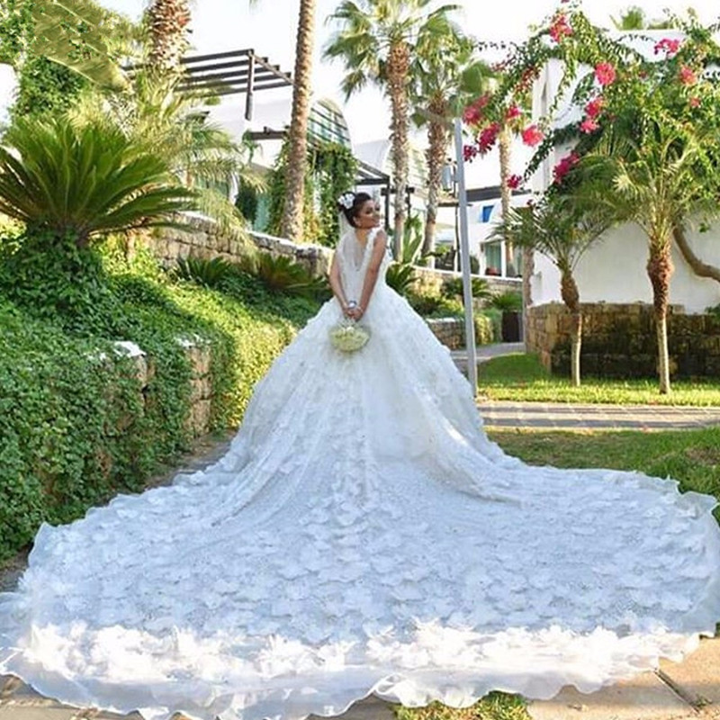 Bridal Gowns Kuwait : Saudi arabia kuwait luxury flowers ball gown wedding