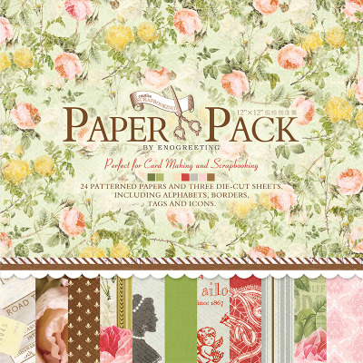 NEW! Floral scrapbooking paper label word die cut paper pattern with pre-cutted paper stickers set of 27sheets papercraft kit(China (Mainland))
