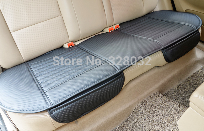 Charcoal Leather Car Monolithic Cover Car Seat Cushion