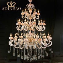 Top Luxury! 32 Arms Large Crystal Chandelier Lustre Home , with 100% K9 Crystal and elegant jade! 8318-15+10+5(China (Mainland))