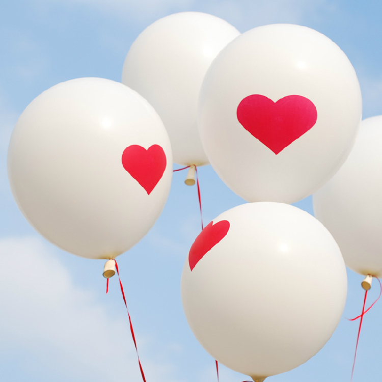 Гаджет  Free Shipipng 200pcs/lot Heart Pattern Balloon For Wedding Decoration Party Decoration Garden Supplies None Игрушки и Хобби