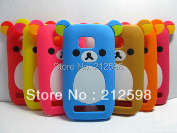 1 Piece + Free shipping,Cute Bear Silicon Case for Nokia Lumia 710 Nokia 710, 8 colors , retail package