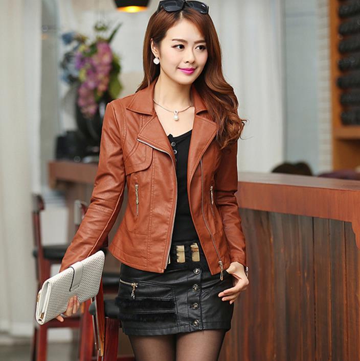 Модели женских коротких кожаных курток