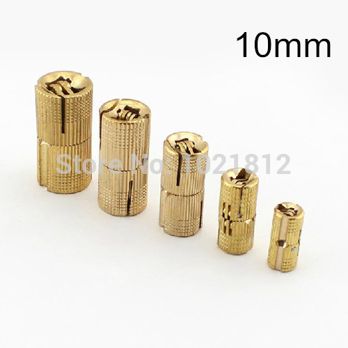 4pcs 10mm Brass Barrel Hinge Cylindrical Hidden Cabinet Hinges Concealed Invisible Mortise Mount Hinge(China (Mainland))