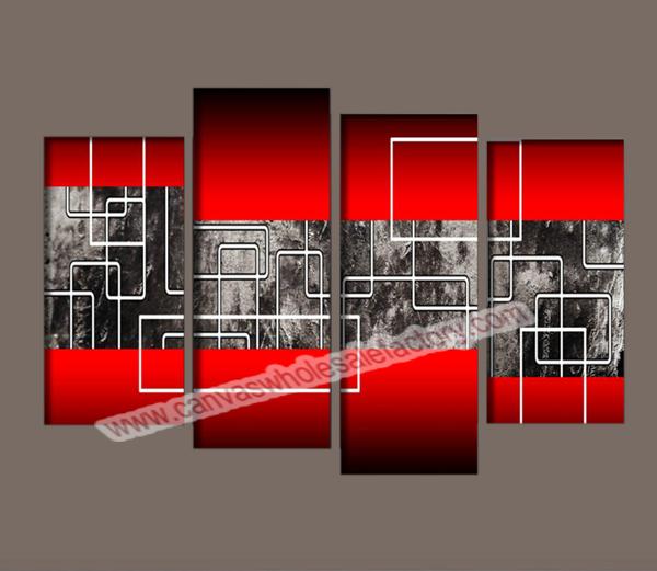 Multi Pannello Home Decor Su Tela Di Linea Astratta Foto