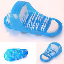 Shower Feet Cleaner Scrubber Bath Brush Massager Bristles Easy Health Slipper 6259 Nx