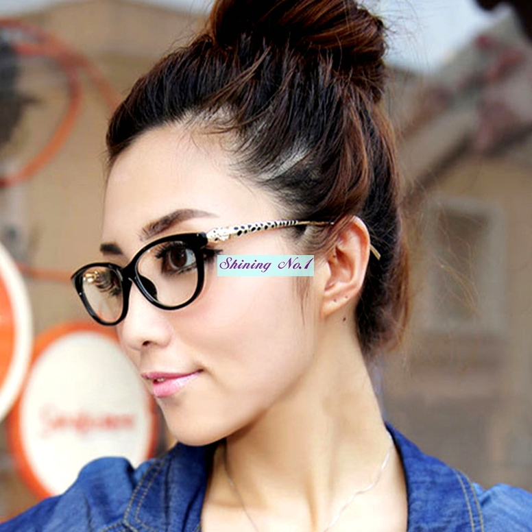 Designer Eyeglass Frames For Large Heads : 2016 New Designer Elegant Leopard Head Eyewear Frame Women ...