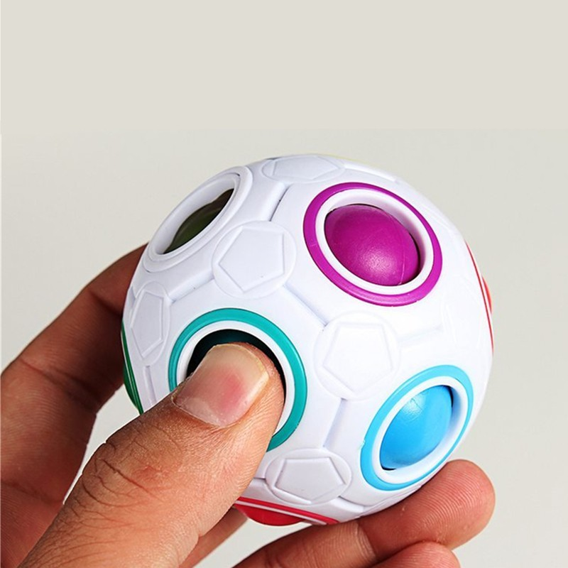 Spherical Magic Cube Toys Novelty Rainbow Football Puzzle Learning & Educational Toys For Children Kids Adult(China (Mainland))