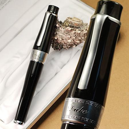 DUKE 2009 noblest black chaplin fountain pen 22KGP M nib<br><br>Aliexpress