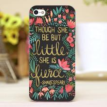 Little & Fierce on Charcoal Design transparent case cover cell mobile phone cases for Apple iphone 6 6plus hard shell