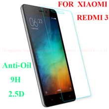 5.0″Original Xiaomi Redmi 3 Tempered Glass 0.3MM xiaomi redmi 3 glass 9H Surface Hardness  Explosion-proof Screen ProtectorFilm