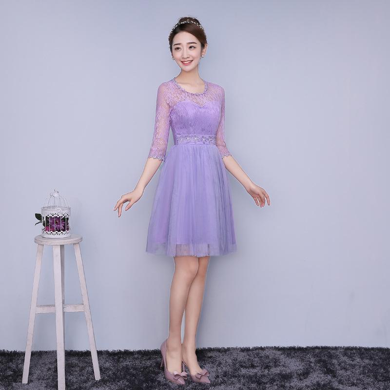 Zx zc4 new spring summer 2016 new short bridesmaid dress for Short spring wedding dresses