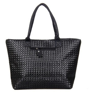 HOT SALE! 2015 Weave Handbag 7color Women PU Leather Cheap Handbag Tote Shoulder Bag Large Capacity Fashion Design Free shipping(China (Mainland))