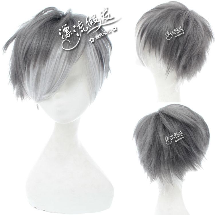 Гаджет  Cosplay wig gray inverse become warped/high temperature wire/cartoon/cos wig  None Изготовление под заказ