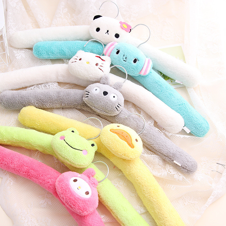 Bendable Cute Flannel Padded Carton Kids Hanger, Fuzzy Baby Hanger (10 Pieces/ Lot)(China (Mainland))