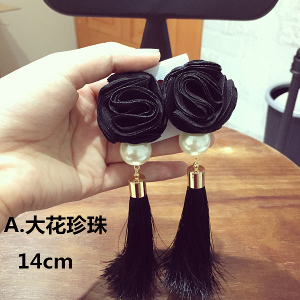 european and usa design flower Pu Leather Tassel Pendant Drop earrings geometric pearl star tassel earrings bijoux<br><br>Aliexpress