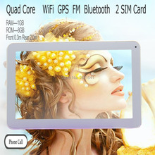 10inch Quad Core Android4.4 Tablets pc Wifi FM BT 2G 3G Phone call 1280*800 IPS LCD Dual SIM card 1G 8G Tab pc Nice Design