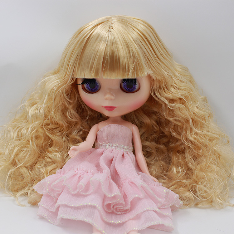 Takar Blyth cloth doll blonde bangs long hair Ultra Max muscle baby cloth suitable for modification to change makeup(China (Mainland))