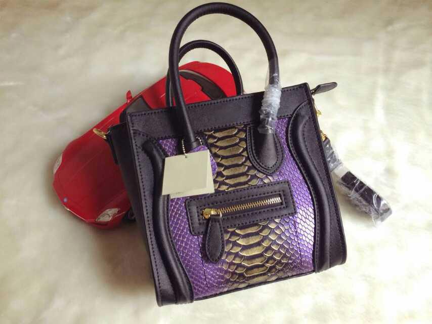 New classic fashion brand leather handbag women MINI smiley package NANO serpentine handbags(China (Mainland))