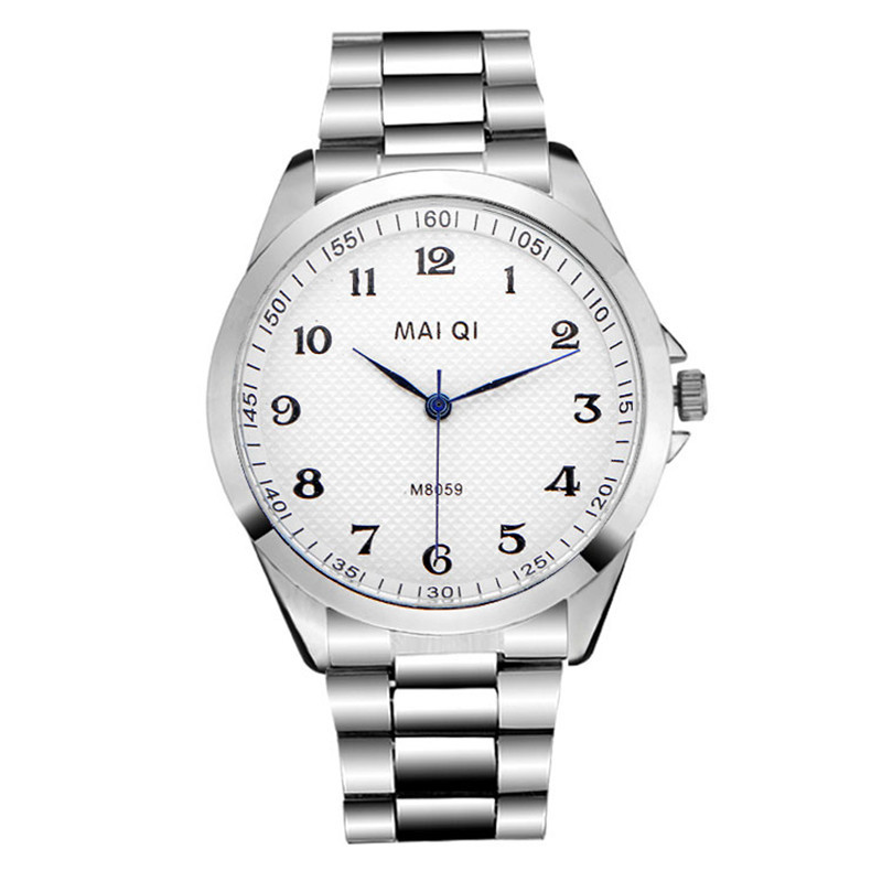 Selling new men's watch Stainless steel quartz Roman numerals watches Luxury contracted silver dial - HY GEM store