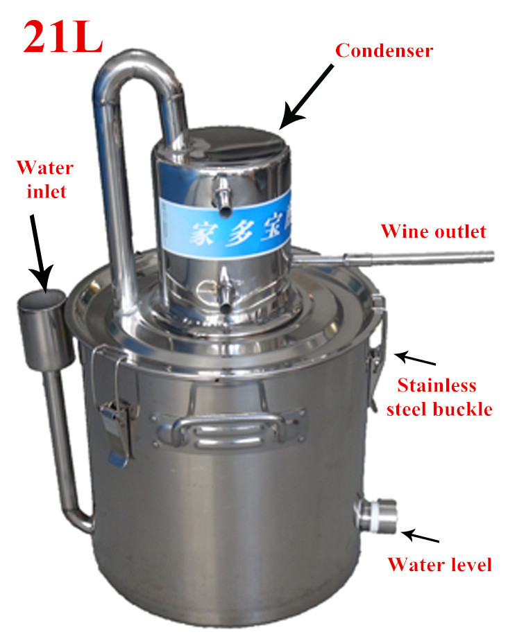 2015 NEW Product! DIY Moonshine Super Condenser 21L Alcohol Distillation Boiler Complete System Home Brewing Equipment(China (Mainland))
