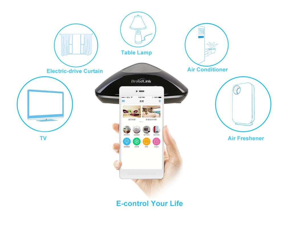 6--Broadlink Remote Control Rm Pro RM2, Smart Home Universal Intelligent Controller,-