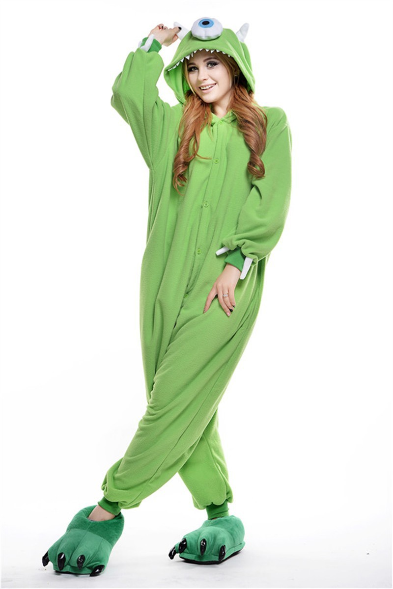 Unisex Adult Pajamas Cosplay Costume Animal Onesie Sleepwear Suit MONOCULAR