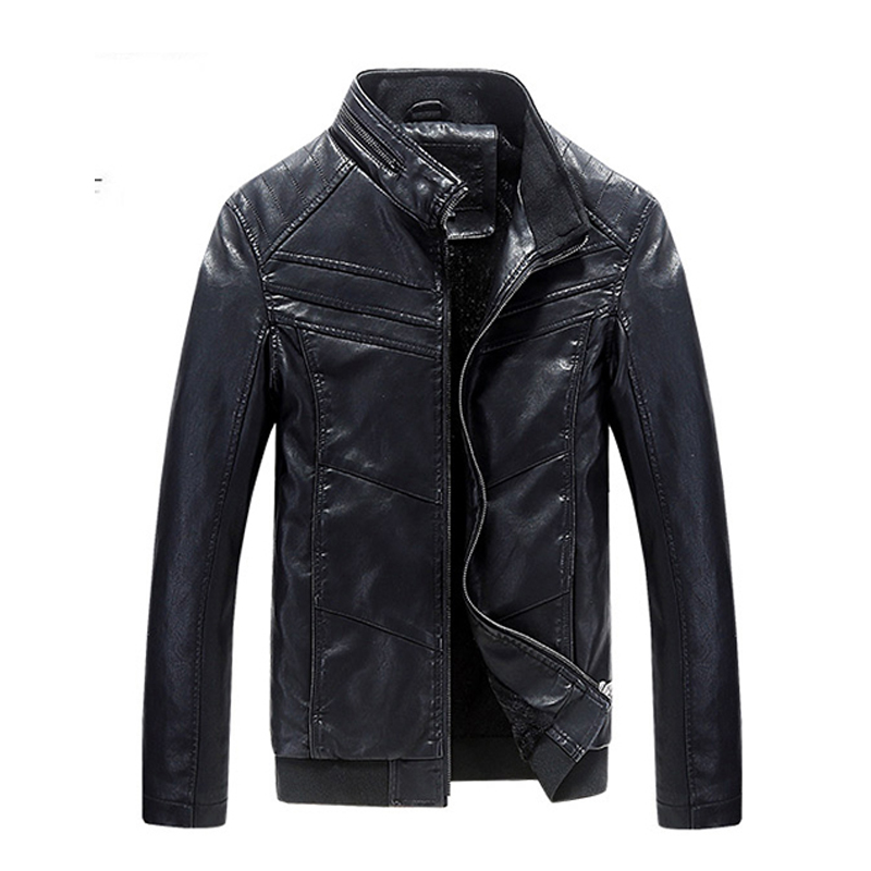 2016 Fall New Arrival Motorcycle Leather Jackets Men Men's leather Jacket Jaqueta De Couro Masculina Male Bomber Jacket(China (Mainland))