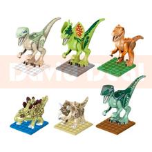 In Stock Jurassic World Building Blocks Cartoon Movie Dinosaur Bricks Toys Jouet Enfant Compatible With Legominifigures SL8916(China (Mainland))