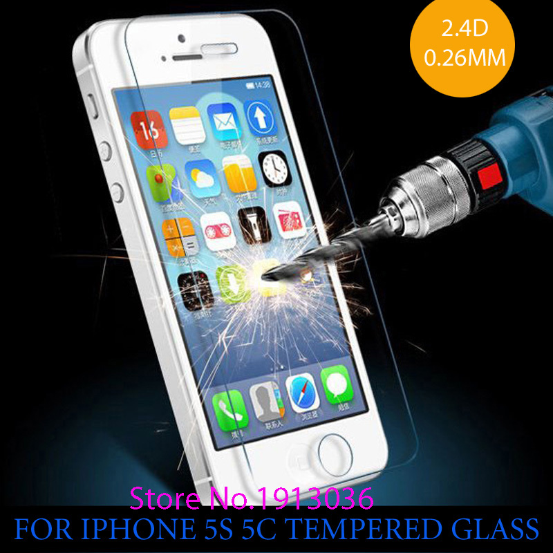 0 26 mm for iphone 5 Tempered Glass for iPhone 5 5s Screen Protector Screen Protector