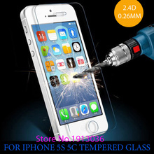 0.26 mm for iphone 5 Tempered Glass for iPhone 5 5s Screen Protector Screen Protector 5c premium 5S Front clear screen protector