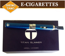 2015 New Titan Slimmer Herbal Vaporizer Dry Herb E-Cigarette Kits Healthy E cigs Vaporizer Pen Rebuildable Atomizer 5pcs/lot