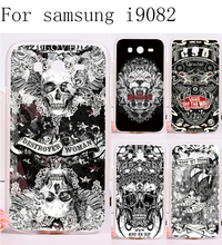 2016 New Painted Scared Skull Head Phone Cases For Samsung Galaxy Grand Duos i9082 Case Ghosts Stylish Back Protective Housing