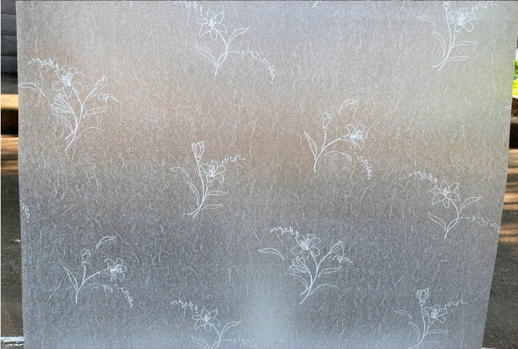 Free shipping 90*100cm top grade selfadhesive decorative frosted privacy window film for bathroom not peepping(Lily) wall paper(China (Mainland))