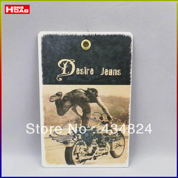 customized hangtag for jeans kraft paper