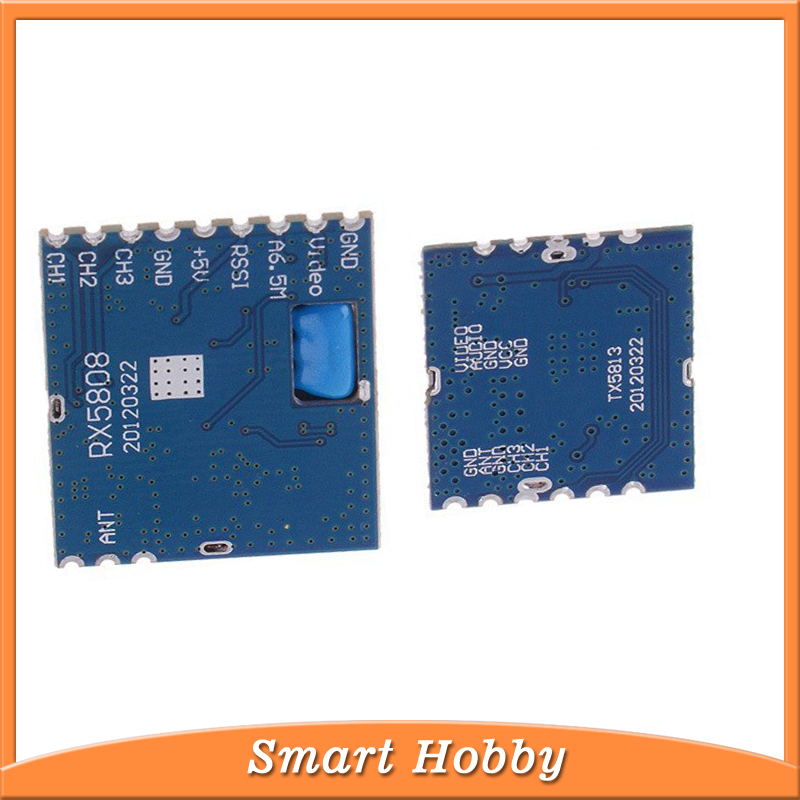 100% Original Boscam TX5813 + RX5808 5.8G 20mw Wireless Audio Video Transmitter Module / Video AV Receiver Module(China (Mainland))
