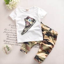 Baby Boy Clothes 2016 New Summer Fashion Kids Boys Clothes Children Toddler Boys Clothing Set T-shirt + Pants 100 % Cotton T520(China (Mainland))