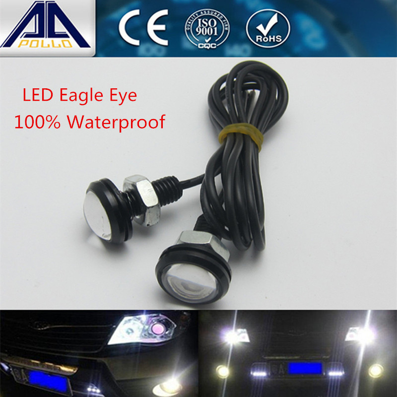 2pcs/ lot 1.8mm 12V Eagle Eye Daytime Running Light motorcycle and car styling LED DRL waterproof working light source(China (Mainland))