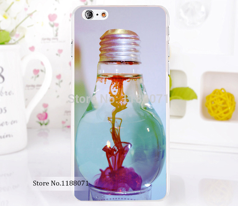 empty light bulb Style For iPhone 6 6s 6g iphone 6+ 6 plus Transparent Case Hard Clear Cover New arrival(China (Mainland))
