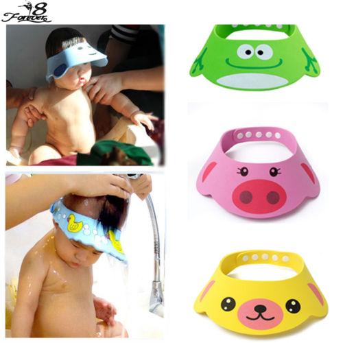 Регулируемая ребенка шляпу малыша дети шампунь купальная шапочка для душа мыть волосы ...