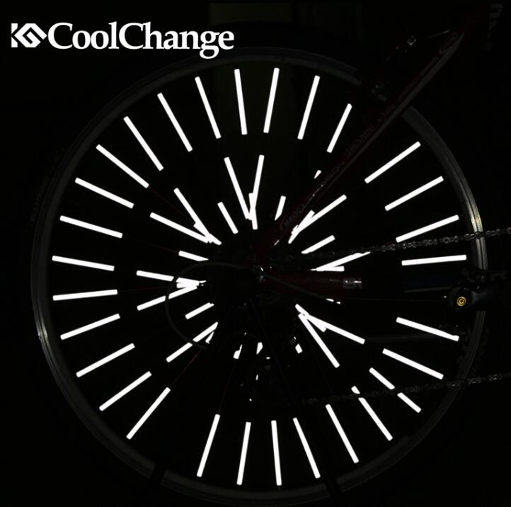 CoolChange 12Pcs DIY Fluorescence Bicycle Wheel Spoke Reflector Reflective Mount Clip Warning Strip Safety Warning Stickers(China (Mainland))