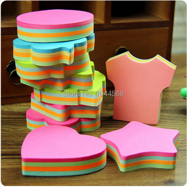 10PCS/lot Lovely creative shapes post-it note pads Many different styles 4 colors one piece(China (Mainland))