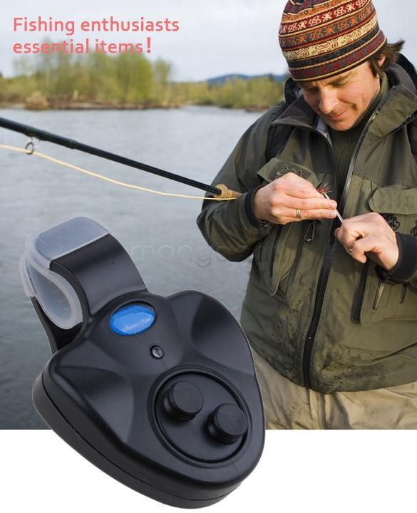 Lowest Price !New Outdoor LED Clip Light Fishing Rod Electronic Bite Alarm Fish Ringer Battery b7 SV004955(China (Mainland))