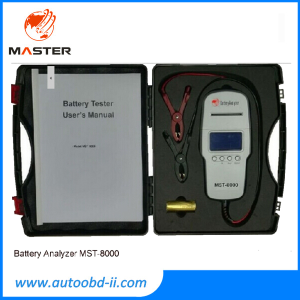 MST8000 Car Battery Tester MST 8000 Auto Battery Analyzer Checker MST-8000 With Internal Printer DHL Shipping(China (Mainland))