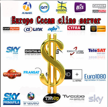Cccam Europe Cline Server for 6months validity Spain Sky UK Germany France Portugal Italy with 3rca av line free shipping by DHL(China (Mainland))